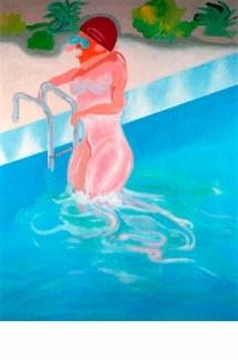 Woman in pool (Greta Garbo)